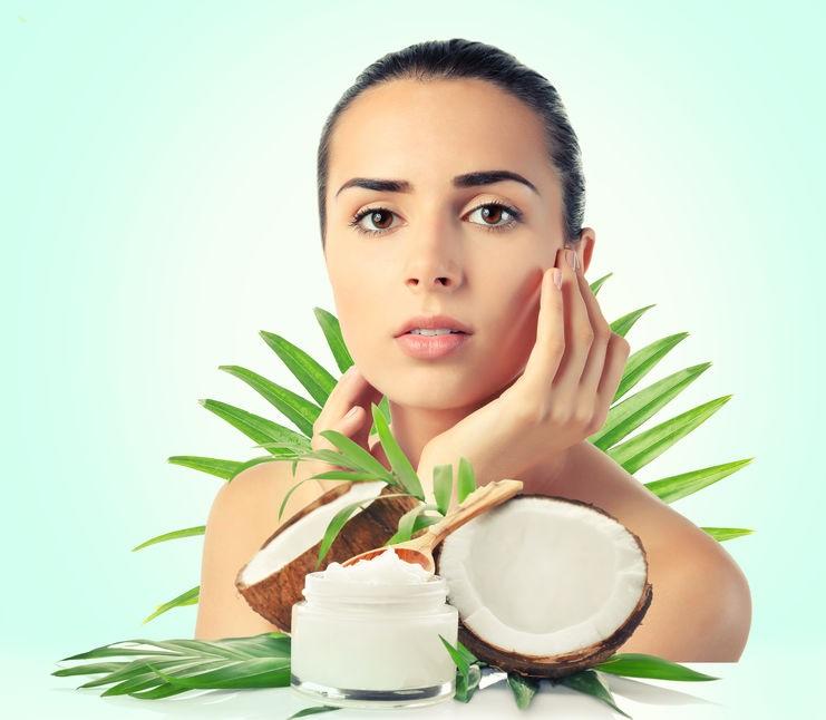 olej kokosowy na włosy i twarz